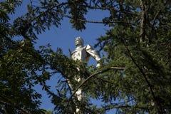 Monumento a Yuri Gagarin, la primera persona a viajar en espacio Está situado en Leninsky Prospekt en Moscú, Rusia Imágenes de archivo libres de regalías