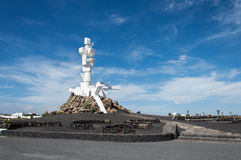Monumentoal Campesino, Lanzarote Stock Afbeelding