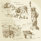 Monumentos americanos ilustración del vector
