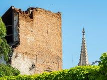 Monumentos arquitectónicos dilapidados, Bratislava Fotografía de archivo libre de regalías
