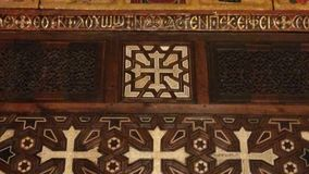 Monumentos cristãos das igrejas velhas do Cairo - Egito Imagens de Stock