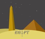 Monumentos de Egipto Ilustração Stock