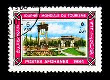 Monumentos de Kabul, serie del día de turismo de mundo, circa 1984 Foto de archivo