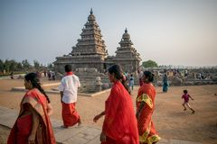Monumentos de Mamallapuram fotografia de stock
