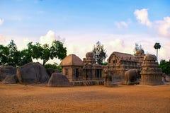 Monumentos de Mamallapuram foto de stock royalty free
