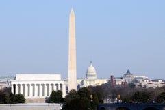Monumentos de Washington Fotografía de archivo