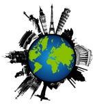 Monumentos do mundo isolados ilustração royalty free