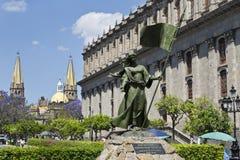 Monumentos do turista da cidade de Guadalajara Foto de Stock Royalty Free