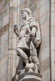 Monumentos en la fachada de la catedral de Milano, di Milano del Duomo, imágenes de archivo libres de regalías