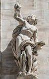 Monumentos en la fachada de la catedral de Milano, di Milano del Duomo, fotos de archivo