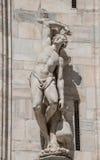 Monumentos en la fachada de la catedral de Milano, di Milano del Duomo, imagenes de archivo
