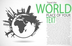 Monumentos famosos alrededor del mundo libre illustration