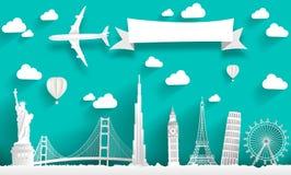Monumentos famosos del mundo ilustración del vector