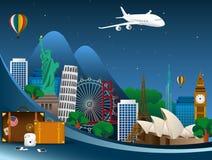 Monumentos famosos del mundo Símbolo ilustración del vector