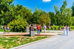 Monumentos a los líderes comunistas en el parque de Museon de Moscú Imagen de archivo libre de regalías