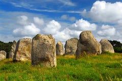 Monumentos megalíticos en Bretaña Foto de archivo libre de regalías