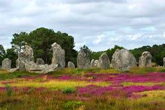 Monumentos megalíticos em Brittany Foto de Stock Royalty Free