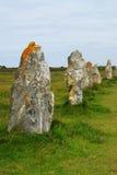 Monumentos megalíticos en Bretaña Foto de archivo
