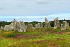 Monumentos megalíticos en Bretaña Fotografía de archivo libre de regalías