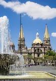 Monumentos turísticos de la ciudad de Guadalajara Imagen de archivo libre de regalías