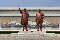 Monumentos y configuración de Pyongyang Fotos de archivo libres de regalías