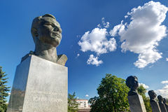 Monumentos a Yuri Gagarin na aleia dos cosmonautas  foto de stock