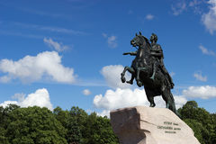 monumentpeter för kejsare stor ryss Arkivfoto