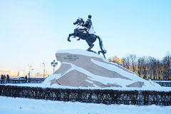 monumentpeter för kejsare stor ryss Arkivbilder