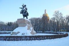 monumentpeter för kejsare stor ryss Royaltyfri Fotografi