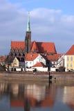 monumentpoland wroclaw Royaltyfri Foto