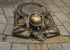 Monumentrörmokare i Bratislava, Slovakien Fotografering för Bildbyråer