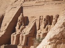 Monuments Abu Simbel images stock