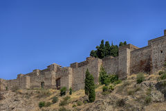 Monuments in Andalusia, the Alcazaba of Malaga Stock Photo