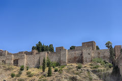 Monuments in Andalusia, the Alcazaba of Malaga Royalty Free Stock Photo