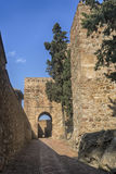 Monuments in Andalusia, the Alcazaba of Malaga Royalty Free Stock Photography