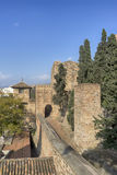 Monuments in Andalusia, the Alcazaba of Malaga Royalty Free Stock Image