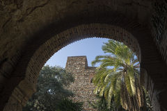 Monuments in Andalusia, the Alcazaba of Malaga Royalty Free Stock Photos