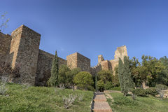 Monuments in Andalusia, the Alcazaba of Malaga Royalty Free Stock Images