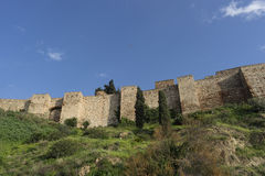 Monuments in Andalusia, the Alcazaba of Malaga Stock Images