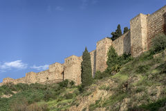Monuments in Andalusia, the Alcazaba of Malaga Stock Photos