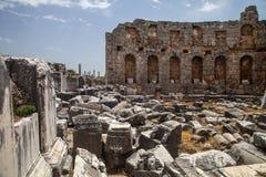 Monuments antiques dans le côté, Turquie Image stock