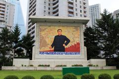 Monuments and architecture of Pyongyang Royalty Free Stock Photography