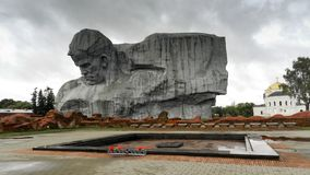 Monuments of the Brest Fortress in Belarus. Monument to the defenders of the Brest fortress in the early days of Nazi Germany attacked the USSR, called ` Royalty Free Stock Photography