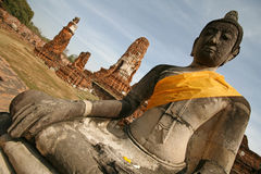 Monuments of buddah. Ruins of Ayutthaya, old capital of Thailand stock images