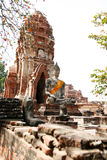 Monuments of buddah, ruins of Ayutthaya Stock Photo