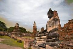 Monuments of buddah THAILAND. Monuments of buddah, ruins of Ayutthaya, old capital of THAILAND royalty free stock image