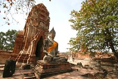 Monuments of buddha Stock Photo
