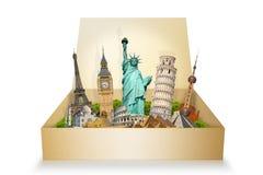 Monuments célèbres du monde Images libres de droits