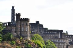 Monuments on Calton Hill in central Edinburg, Scotland, United Kingdom. UNESCO World Heritage Site royalty free stock image