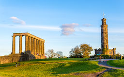 Monuments on Calton Hill in Edinburgh Stock Photography